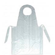 Delantal desechable de plástico blanco 1000 ud