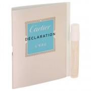 Cartier Declaration L'eau Vial (Sample) 0.05 oz / 1.48 mL Men's Fragrances 537041
