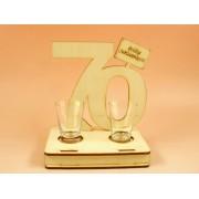 70. születésnapra pohár szett