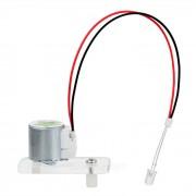 Mini mano manivela generador dinamo kit DIY educativo juguete w / luz verde LED - transparente + plata