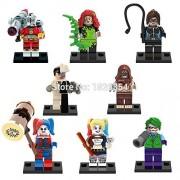 Superb good Super Heroes Minifigures Harley Quinn Joker 8pcs/lot Building Blocks Model Brick Toys Legoelieds