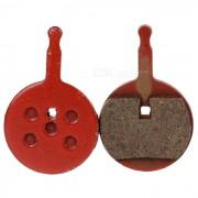 Novich DIY Semimetallistic Composite Disc Brake Pad - Red (2 PCS)