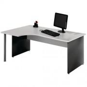 Compact bureau Ekwo - Onderstel met wangen - Lichtgrijs
