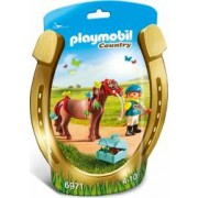 Ingrijitor si Ponei cu Fluturasi Playmobil