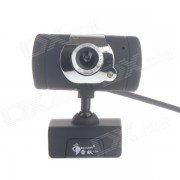 RAYANTS C-006 8.0MP HD Webcam with Night Vision Light / Micphone - Black + Sliver