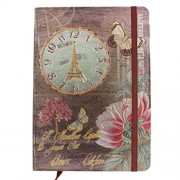 """Tootpado Clock Journals and Diaries 100 pages - Diary, Notebook (5""""x7"""" Inches)"""