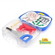 Little Treasures 14 piece deluxe tool series pretend and play tools play set in carry case - great educational toy set f