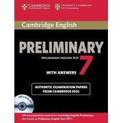 Cambridge ESOL Cambridge English Preliminary 7 Student's Book Pack (Student's Book with Answers and Audio CDs (2)) (PET Practice Tests)