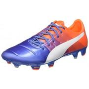 Puma evoPower 1,3 FG, Botas de Fútbol, Yonder/Puma White Blue/Orange Shocking, 12