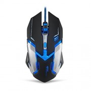 Airfox GM001 Ergonomic Wired Gaming Mouse for PC, 3200DPI, Blue LED, 6 Buttons