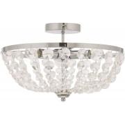 Malmbergs taklampa 3-ljus metall och glas 40cm