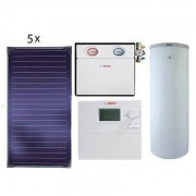Pachet panouri solare Bosch 5 FKT-1S + WST SP750-1 + B-SOL 300