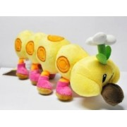 "Super Mario Bros Plush 11"" / 28cm Wiggler Caterpillars Doll Stuffed Animals Figure Soft Anime Collection Toy"
