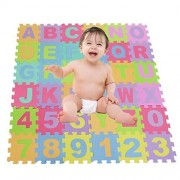 eshion 36 Piece ABC Foam Mat - Alphabet & Number Puzzle Play & Flooring Mat for Children Kids Toddlers