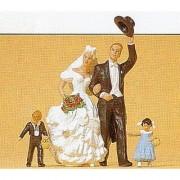 Preiser 45041 G Scale Bride & Groom Figure Set (4)