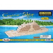 Puzzled Cruise Ship Wooden 3 D Puzzle Construction Kit