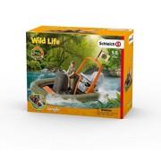Schleich Wild Life Dinghy with Ranger Toy Figure