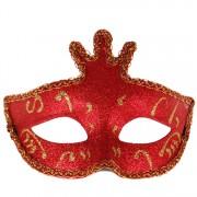 Masker rood glitters