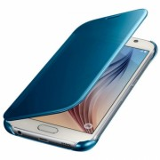Husa Clear View Cover pentru Samsung Galaxy S6 (G920), EF-ZG920BLEGWW Blue