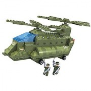 Brictek 25708 Army Double Rotor Helicopter