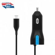 Incipio High Speed USB-C Car Charger 3A, 15W - зарядно за кола за с вграден USB-C кабел