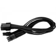 PCIe VGA tapkabel SILVERSTONE 8 Pin - 6-2 Pin hosszabbito 25cm - Fekete