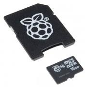 MicroSD Raspberry Pi 16Gb + Adaptador SD (Incluí Noobs)