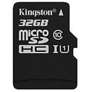 Kingston Digital 32GB microSDHC Class 10 UHS-I 45R Flash Card (SDC10G2/32GBSP)