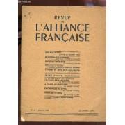 Revue De L'alliance Francaise / N°37 - Janvier 1948 / Leon-Paul Fargue - Le Centenaire D'evangeline - Aucassin Et Nicolette - Dialogue Au Balcon - A Propos De Dom Juan De Molire - Pris ...