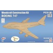 Maquette En Bois - Avion Boeing 747 - Quay-Quay