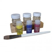 Waldorf Watercolor Painting Starter Set: Assorted Stockmar Circle Color 20 Ml Watercolor Paint (Lemon Yellow, Carmine Red, Ultramarine Blue), Paint Brush, And 3 Jar Wooden Paint Holder Set
