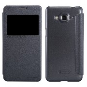 Sumsang Galaxy Grand Prime Case, Nillkin Sparkle Series Synthetic Leather Case Cover for Samsung Galaxy Grand Prime G5308W - Black