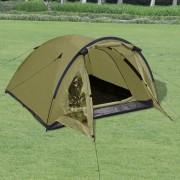 vidaXL Триместна палатка за къмпинг, зелена