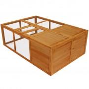 vidaXL Gaiola para animais, em madeira, dobrável, exterior