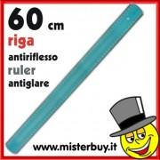RIGA 60 cm TRASPARENTE AZZURRA ANTIRIFLESSO