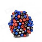 CT-318 5mm Rare Magnet Perles Terre DIY Puzzle Set - Dblue + rouge + gris (216 PCS)