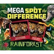 Mega Spot the Difference: Rainforest by Camilla de La Bedoyere