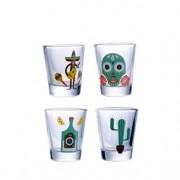 Copos de Tequila Shot Ícones Mexicanos
