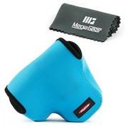 MegaGear Ultra Light Neoprene Camera Case Bag with Carabiner for Canon PowerShot SX60 HS Digital Camera (Blue)