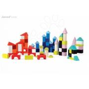 Janod cuburi de construit din lemn Kubix - 100 Blocks 08061