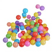 Babrit Pack of 100 Phthalate Free BPA Free Crush Proof Plastic Ball Ocean Balls Pit Balls - 6 Bright Colors
