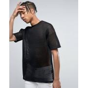 ASOS Свободная сетчатая футболка ASOS - Черный
