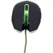 Mouse gaming Gembird MUSG-001-G 2400dpi Black-Green