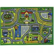 JVL Childrens 80 x 110 cm Map Nursery Playroom Kids Play Road Mat