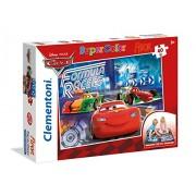 Clementoni 25442 - Cars Floor Puzzle, 40 Pezzi