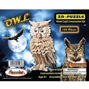 Puzzled Owl Wooden 3D Puzzle Construction Kit