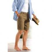 Henry Cotton's Leinen-Shorts, 52 - Khaki