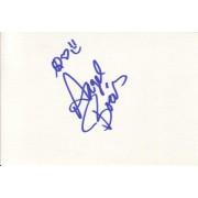 Angel Boris Autographed Index Card