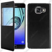 Ebeststar ® Pour Samsung Galaxy A5 2016 A510f - Housse Coque Etui Style View Portefeuille + Film, Couleur Noir