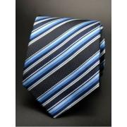 Fekete - kék csíkos nyakkendő